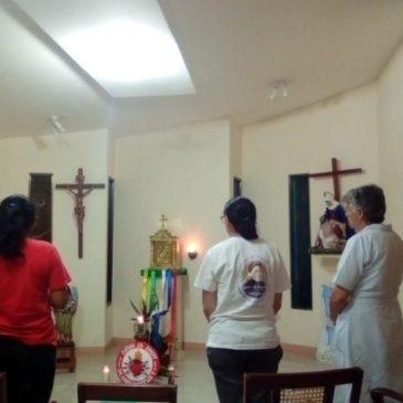 Madre Paula Caño en viaje pastoral por América Latina