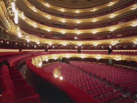 Zuschauerraum Gran Teatro Del Liceu in Barcelona, Fotodruck erhältlich bei Allposters