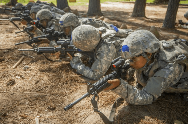 firing rifles at army basic training