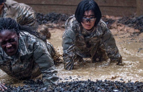 pushups in the army basic training course