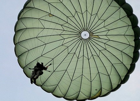 Parachute used in Airborne School - T10