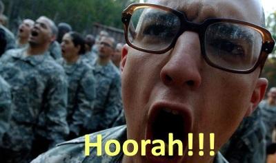 Armee-Grundausbildung Hurra