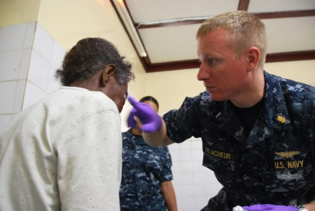 navy nurse at work