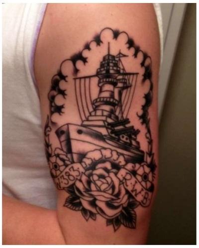coast guard ship tattoo