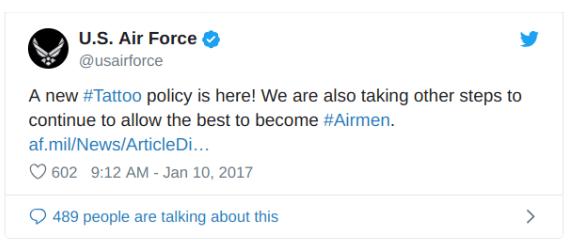 us air force tattoo policy tweet
