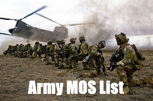 army mos list