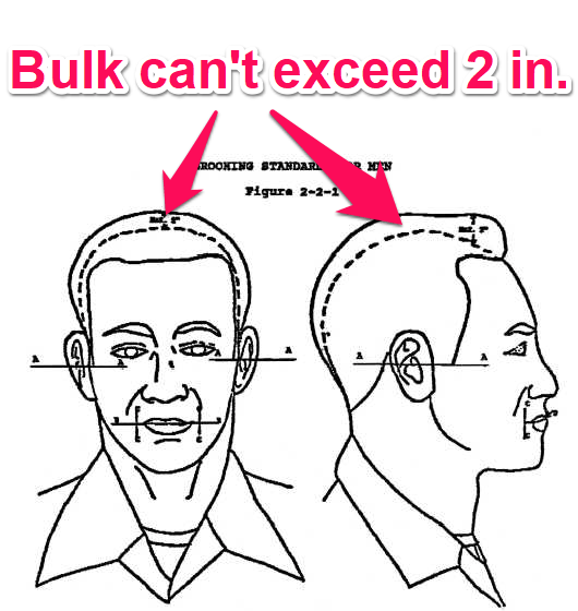 navy hair bulk regulations - males