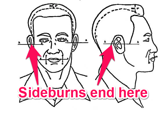 navy sideburn regulations
