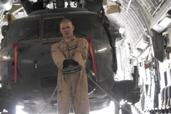 an Aircraft Loadmaster at work