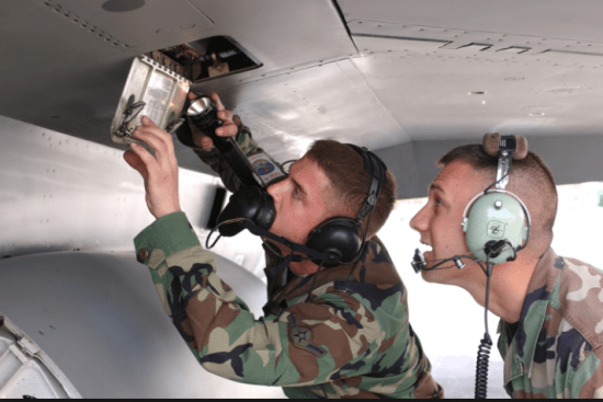 an Tactical Aircraft Maintenance at work