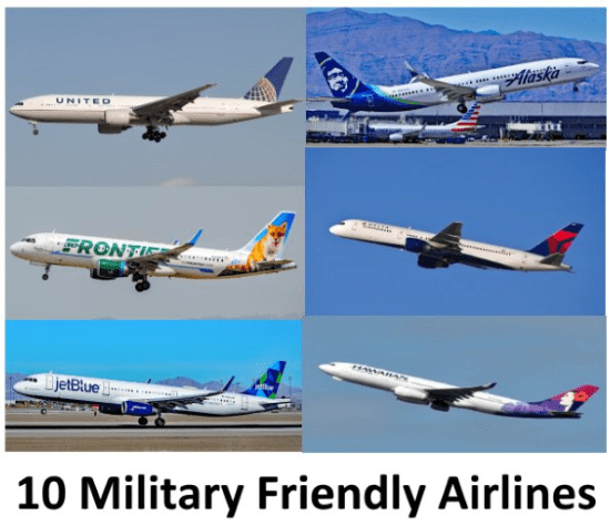airlines with military discounts