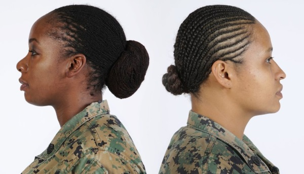 female army soldiers can now have long, twisted locks