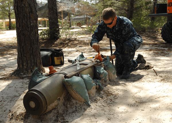 Explosive Ordnance Disposal disabling ordnance