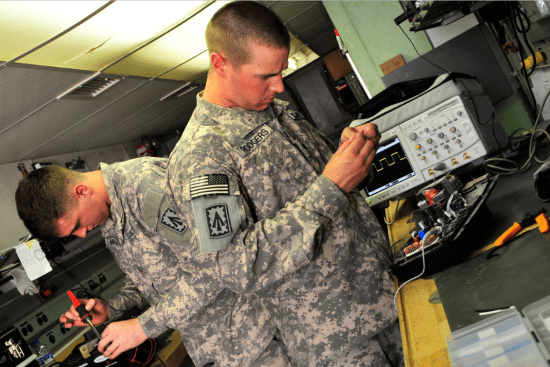 an Patriot System Repairer at work