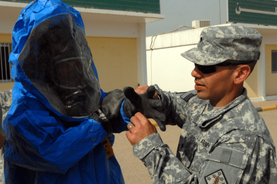an Chemical Operations Specialist at work