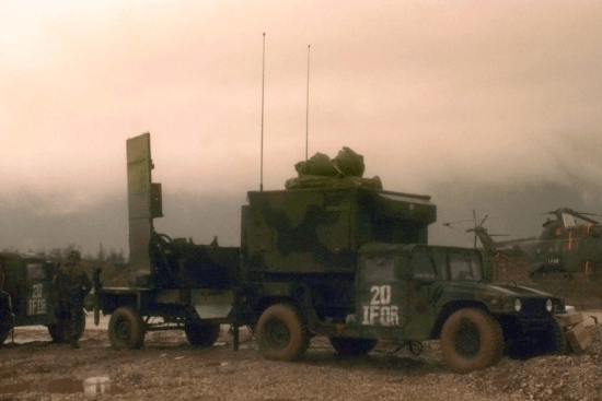 an Field Artillery Firefinder Radar Operator at work