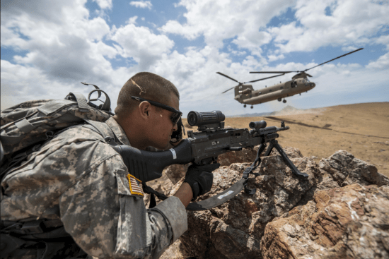 an Combat Engineer at work
