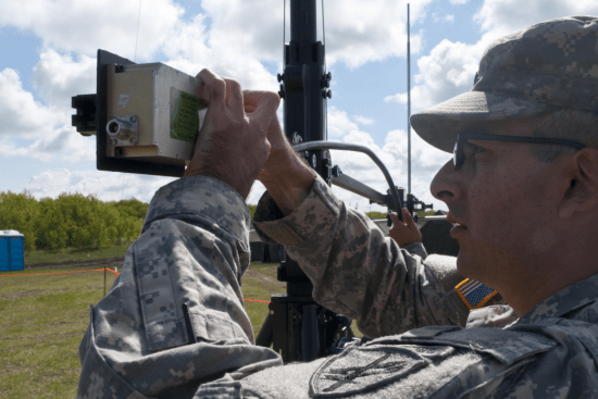 an Microwave System Operator/Maintainer at work