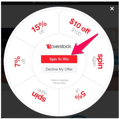 overstock spin to win