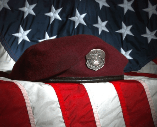 Air Force pararescue maroon beret