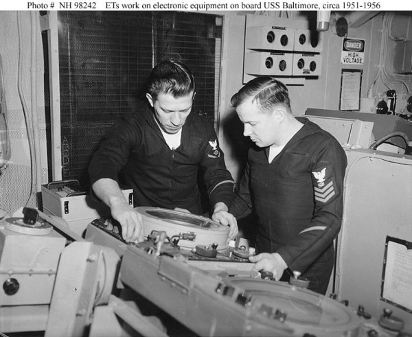 navy electronics technicians at work