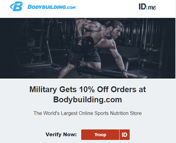 bodybuilding military discount