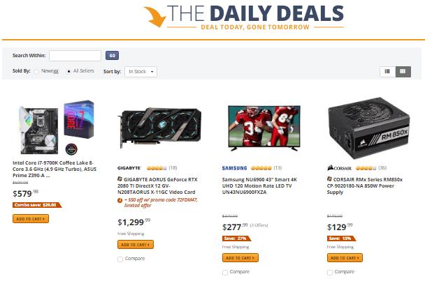 newegg daily deals