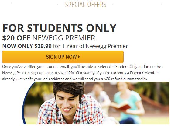 newegg student discount