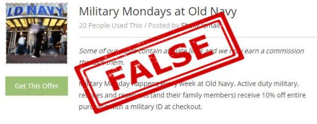 old navy military mondays
