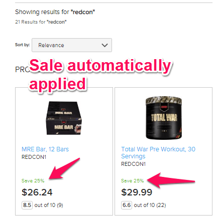 search for redcon supplements