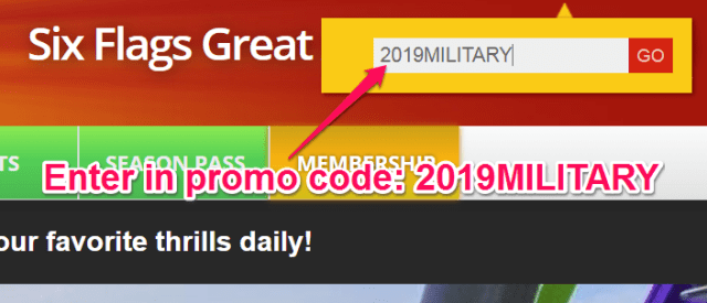 six flags military discount promo code