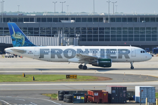 frontier airlines military baggage