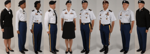 army class b uniform