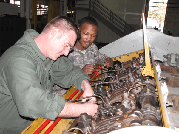 diesel engine mechanic veteran job