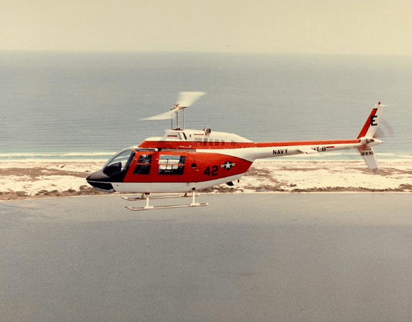 Marine Corps Bell Jet Ranger Helicopter