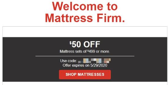 mattress firm coupon code