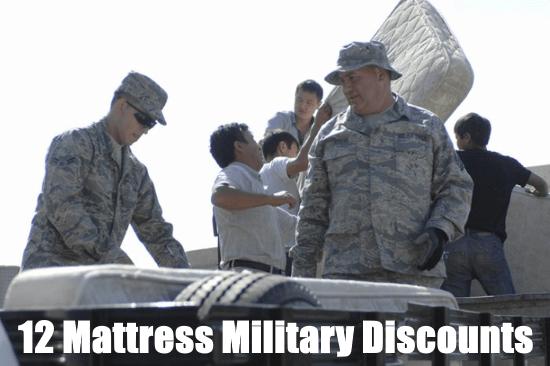 mattress military discounts