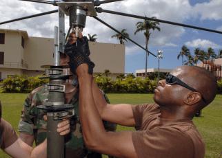 Navy CTR assembles an antenna