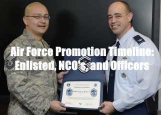 air force promotion timeline