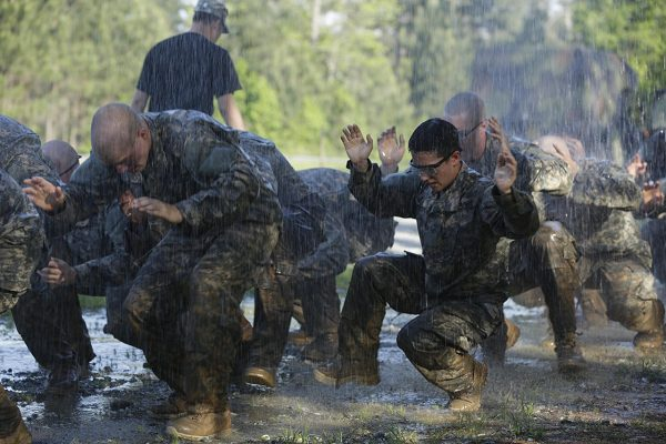 Army Ranger Training During Swamp Phase