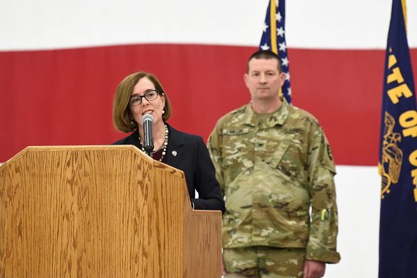 Governor discusses House Bill 4035 authorizing state tuition assistance for service members in the Oregon National Guard