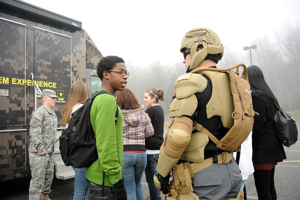Maryland students beta test Army STEM recruiting vehicle during HRAP event