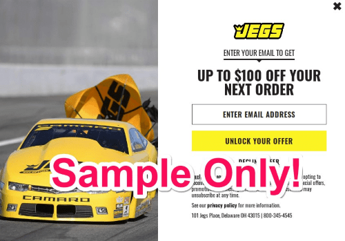 jegs discount code via email