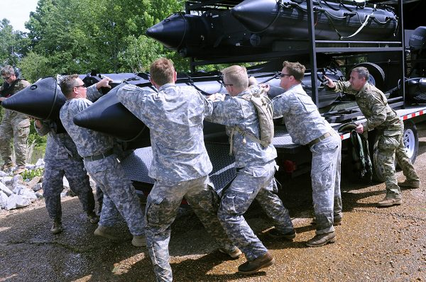 National Guard Special Forces Conducts Water Rescue Training