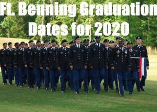 fort benning graduation dates for 2020