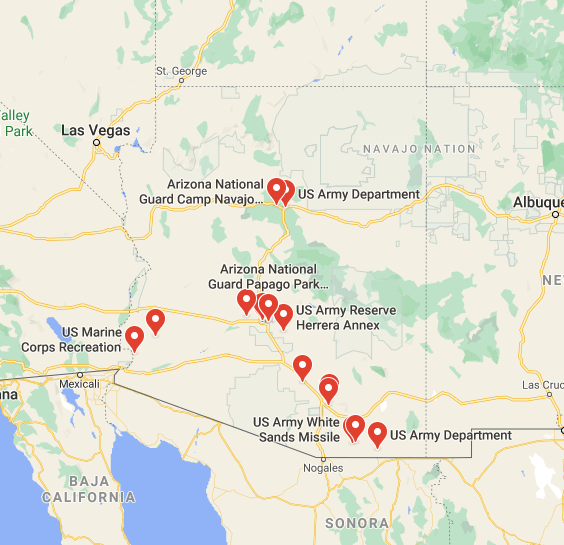 military bases in arizona