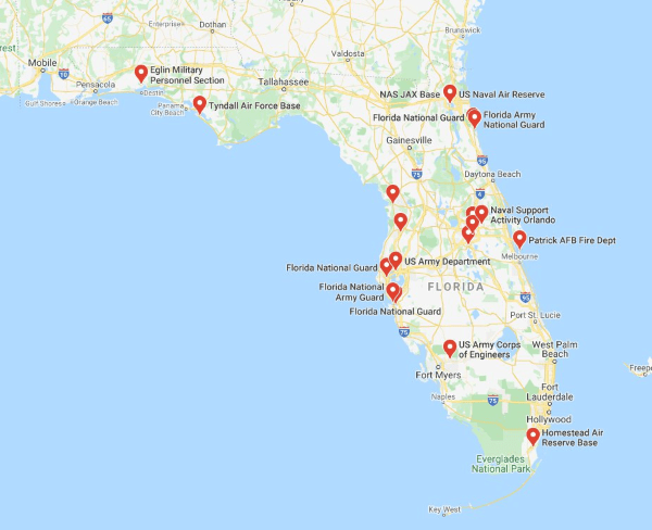 military bases in florida