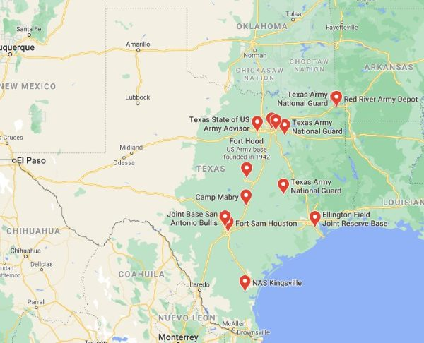 military bases in texas