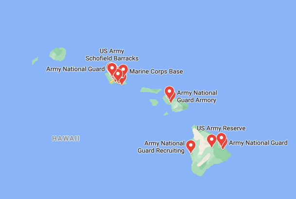 army bases in hawaii