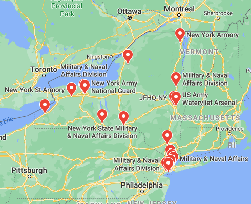 military bases in new york